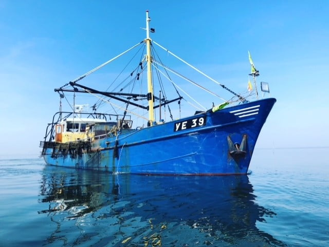 Oyster fishing vessel Ye 39. Photo by Vincent Bol